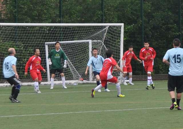 Sun Wah FC defending a corner kick