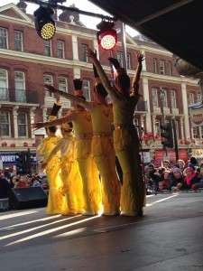 Chinese Dancers on stage - Chinese New Year 2014