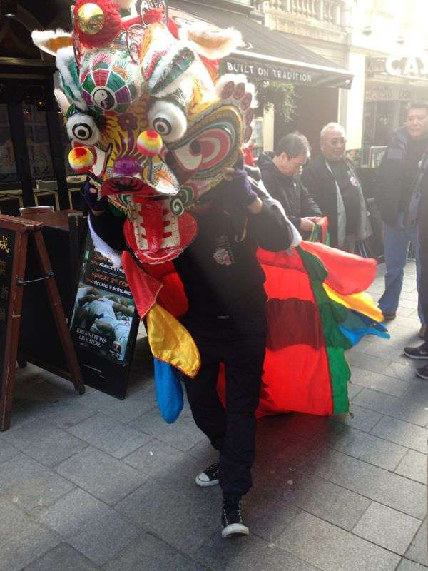 Chinese Unicorn Dance - London Chinatown 2014